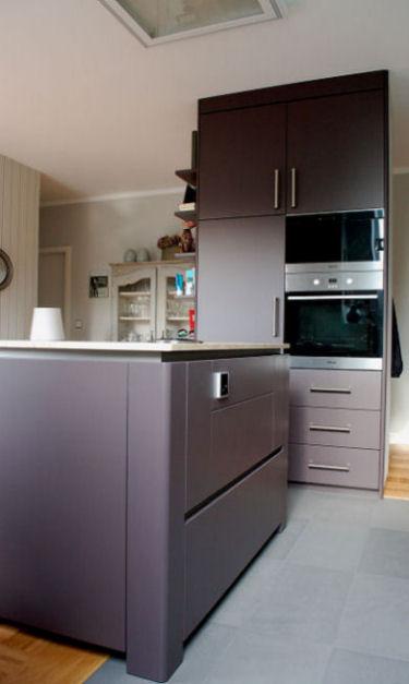 Schreinerküche in Mattlack