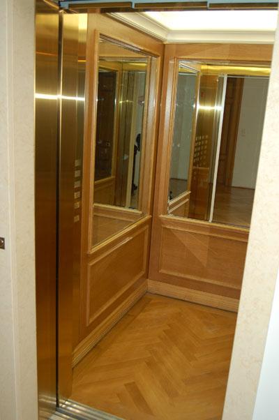 Kabinengestaltung eines komplett neuen Aufzugs